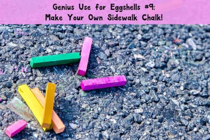 Our 9 brilliant uses for eggshells includes making your own sidewalk chalk. How fun!