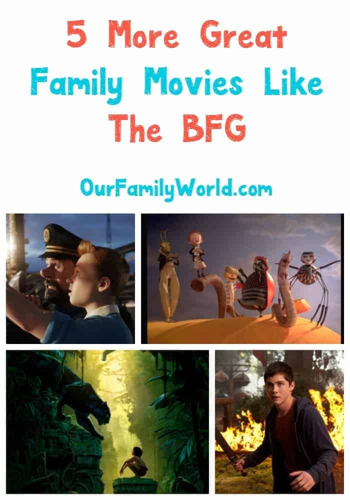 Looking for more great family movies like The BFG? We have you covered! The BFG is a fantasy adventure movie, due in theaters on July 1, 2016. The Walt Disney Studios Motion Pictures movie is about the adventures of a little girl named Sophie and a friendly giant named The BFG, or Big Friendly Giant, for short. Here are some other moves like The BFG.