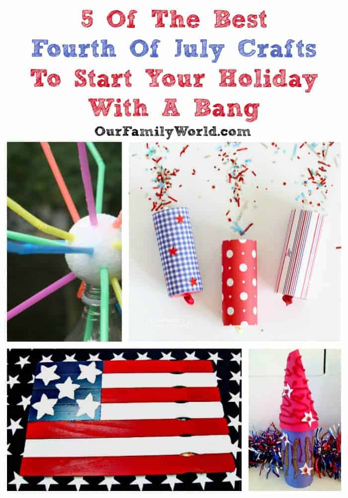 Whether you're trying to get excited about fireworks, or want a craft to keep through the years, I've got awesome Fourth of July crafts. Click to see now!