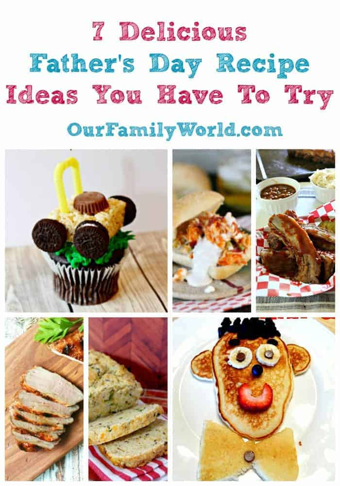 Father's Day food ideas is something I've been thinking about right now to make the day special for my husband and dad. I've found though we like heading out to a restaurant, we always seem to enjoy our time together more for Father's Day when we relax at home with the family. If you need some delicious recipe ideas for Father's Day food, I have you covered! Click to see my seven favorite food ideas to make for Father's Day this year!