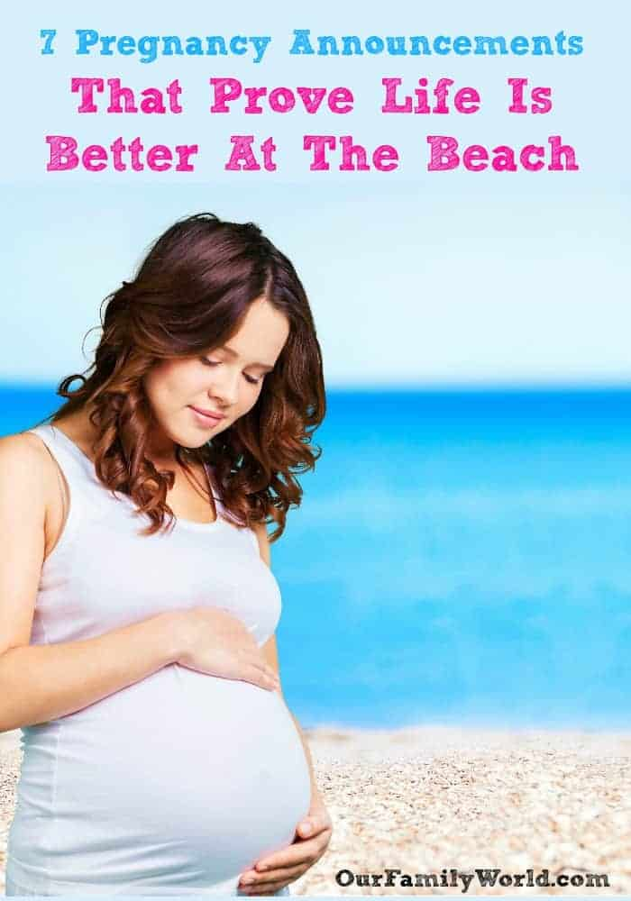 What better place to plan a beautiful pregnancy reveal than at the beach? We all know beach days make for some big happy memories, add your beach pregnancy announcement to parents the list! I've put together some of my favorite ideas from super creative mamas and papas who have their beach pregnancy announcements ready for the water! Check out these creative ideas!