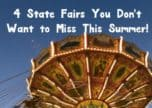 One of the best things to do in summer is to head to one of the country's most popular state fairs. These fairs began in the 19th century as a way of promoting agriculture. State fairs not only include livestock exhibitions, but also live entertainment, amusement rides, carnival games and food vendors. Here are some of the best state fairs to check out this summer.