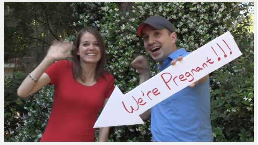 now this is an epic pregnancy announcement video