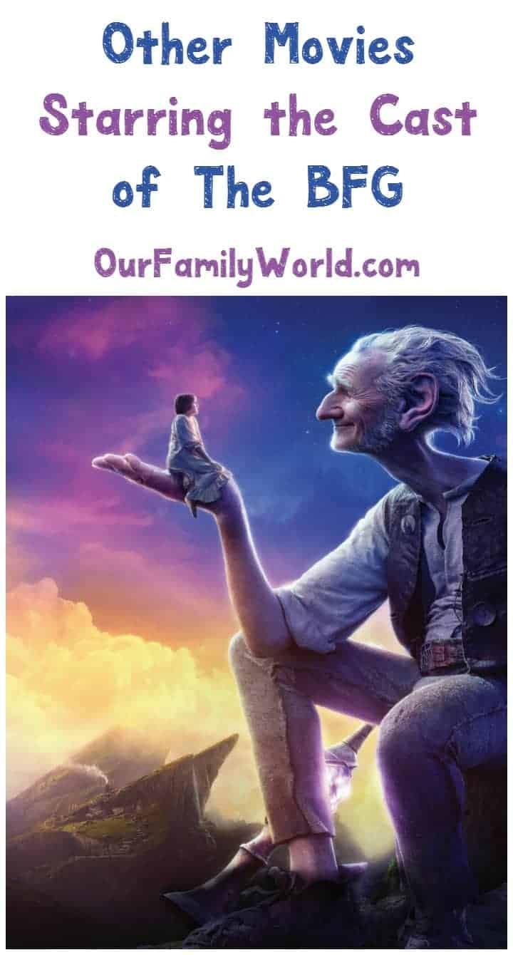Wondering where you've seen the cast of The BFG? Check out other movies they've appeared in!