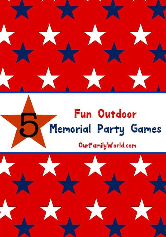 With the unofficial start to summer fast approaching, we have five super fun patriotic outdoor family party games to play this Memorial Day. With BBQ's and get togethers on the horizon, you want to keep the kids (and adults!) entertained, and games that include everyone are the way to go!
