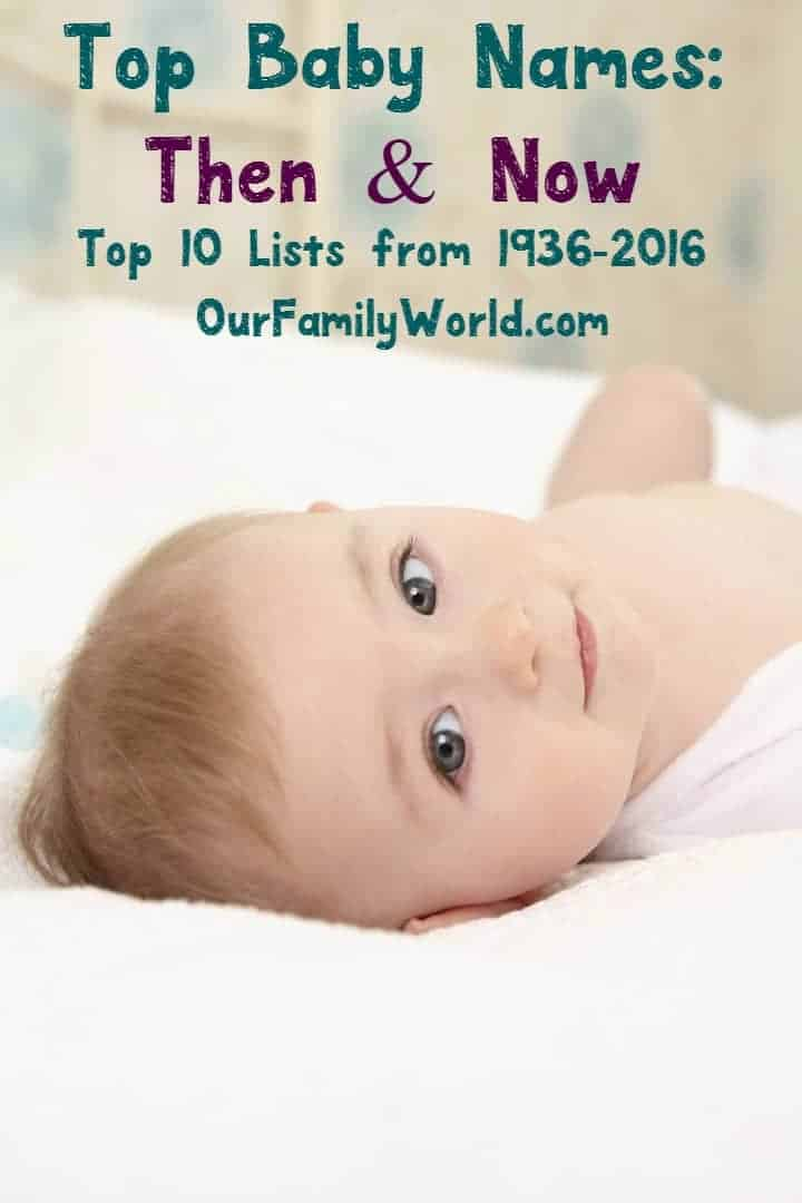 Top Baby Names Then and Now: How Much Have They Changed ...