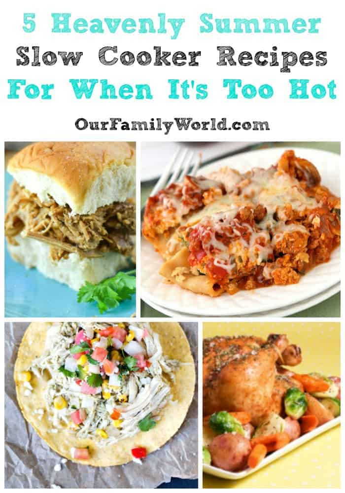 Want to know my secret dinnertime weapon for keeping summer dinner calm and easy? Slow cooker recipes! Click to see some of my favorite summer slow cooker recipes.