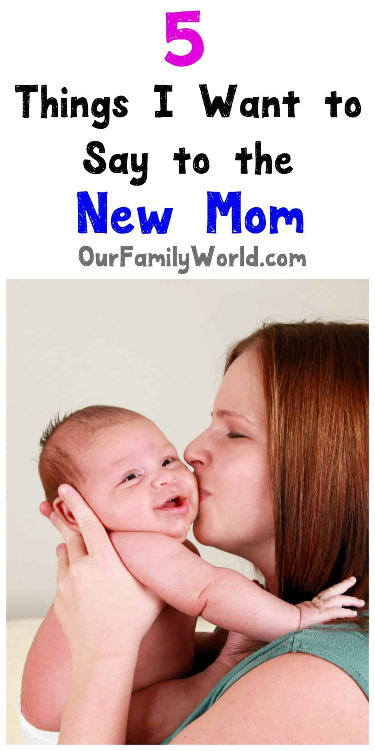 """When it comes to giving parenting advice, the best thing you can say is """"I understand."""" Check out 5 things to say to a new mom!"""