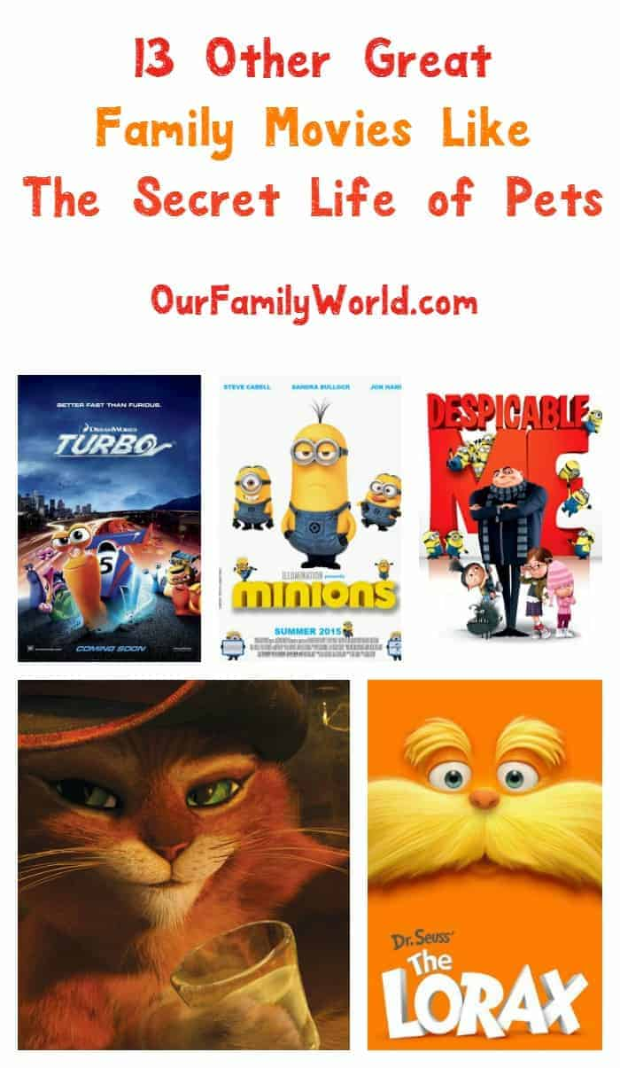 Looking for more great family movies like The Secret Life of Pets? Check out a few of our favorites to watch tonight with your kids!