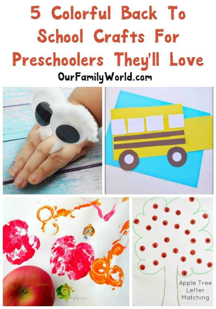 Get preschoolers excited about going back to school with these fun crafts and activities that you can do together! Check them out!