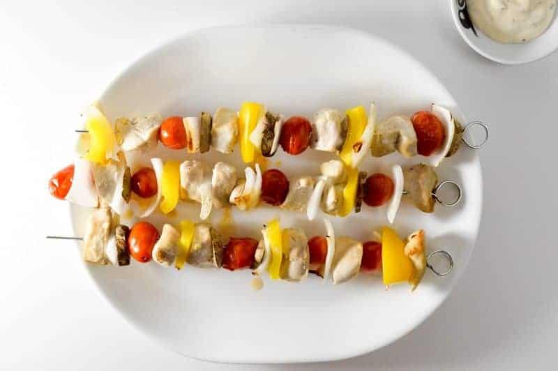 CHICKEN SKEWERS EASY DINNER RECIPE 4
