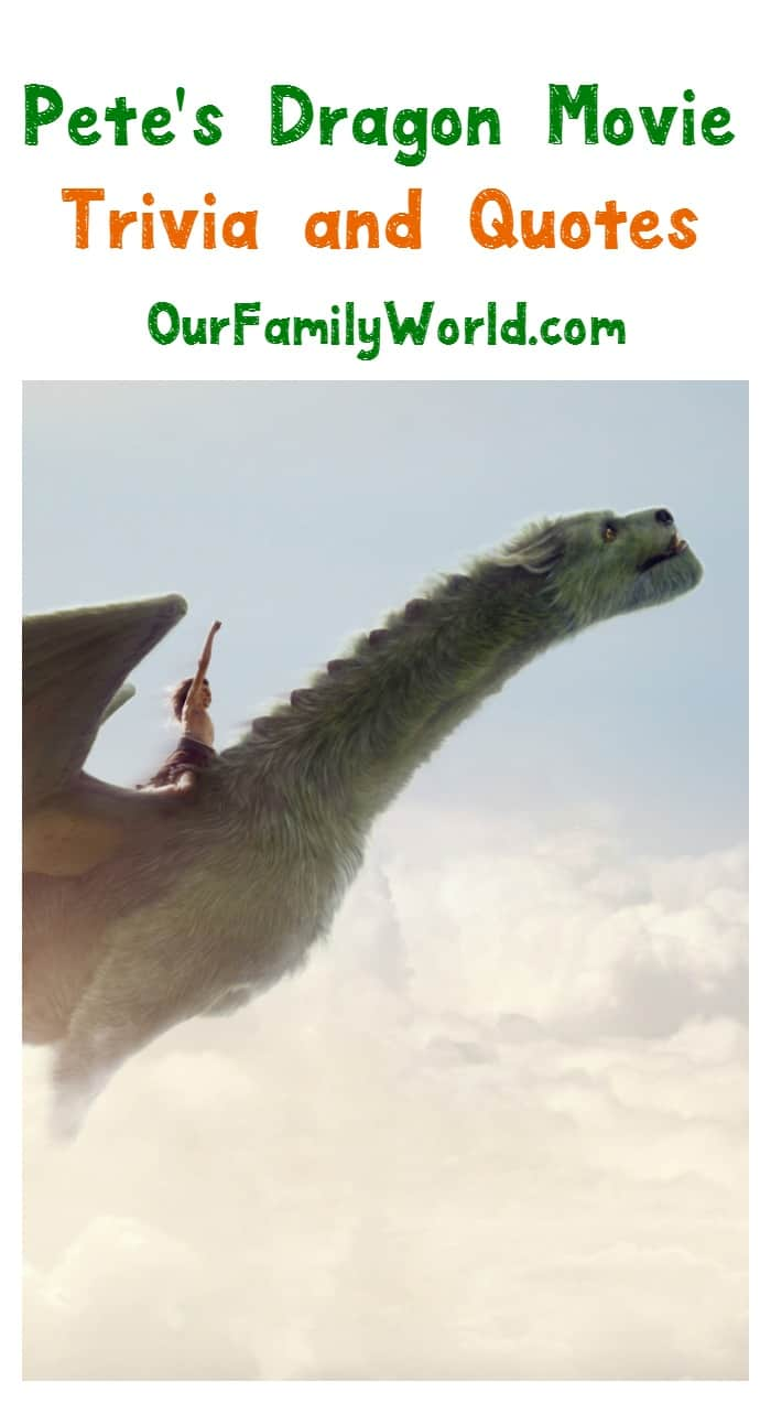 Looking for some great Pete's Dragon movie quotes and trivia? We have you covered! Check out these fun facts and wonderful words from the 2016 reboot!