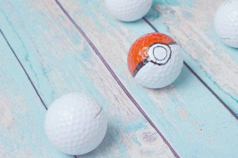 Pokemon Go Pokeball Golf Ball Craft for Kids 4