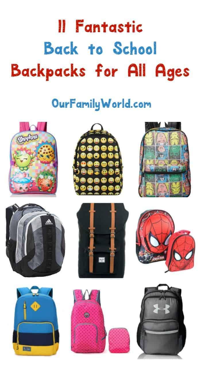 11 Best Back to School Backpacks for Kids