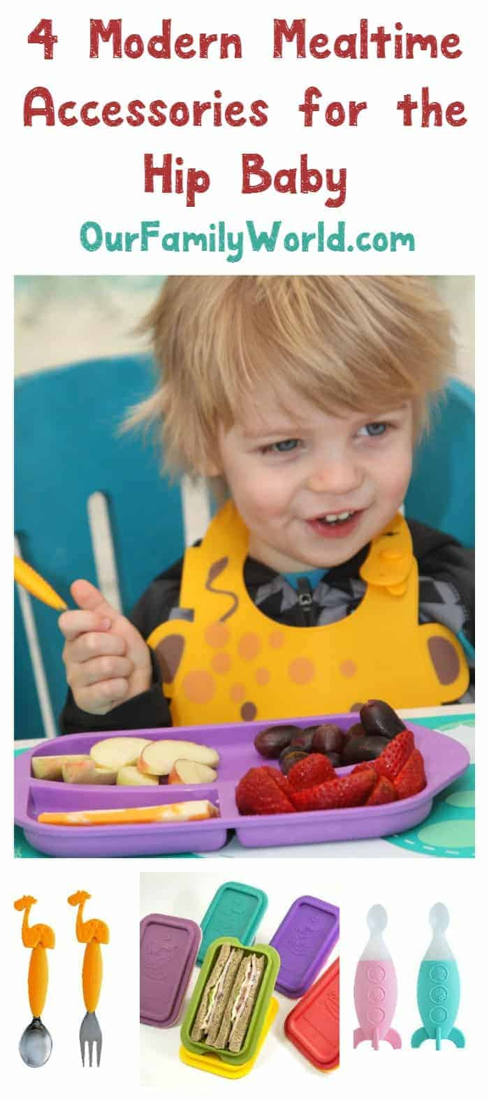 These modern mealtime accessories for baby are so much fun! Check them out and make the transition to solid food easier for your tiny tot!
