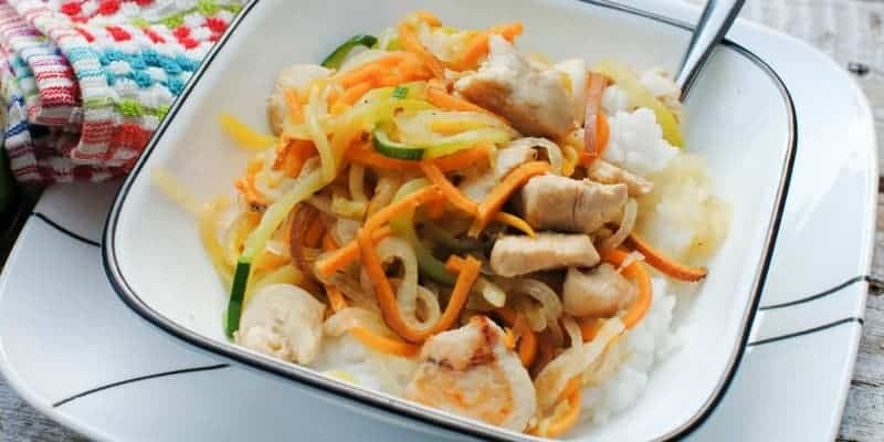 Natures Promise Organic Chicken Teriyaki Veggie StirFry Easy Dinner Recipe (13 of 14)