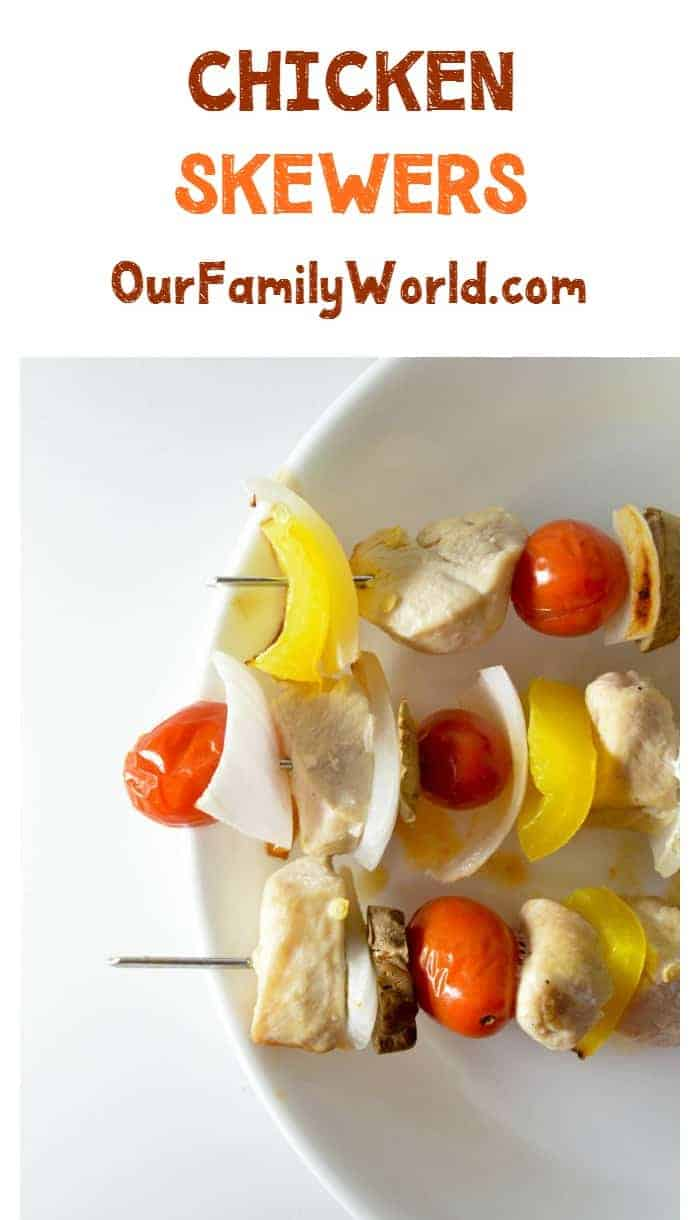 Easy recipe for dinner chicken veggies skewers for What can i make for dinner with chicken