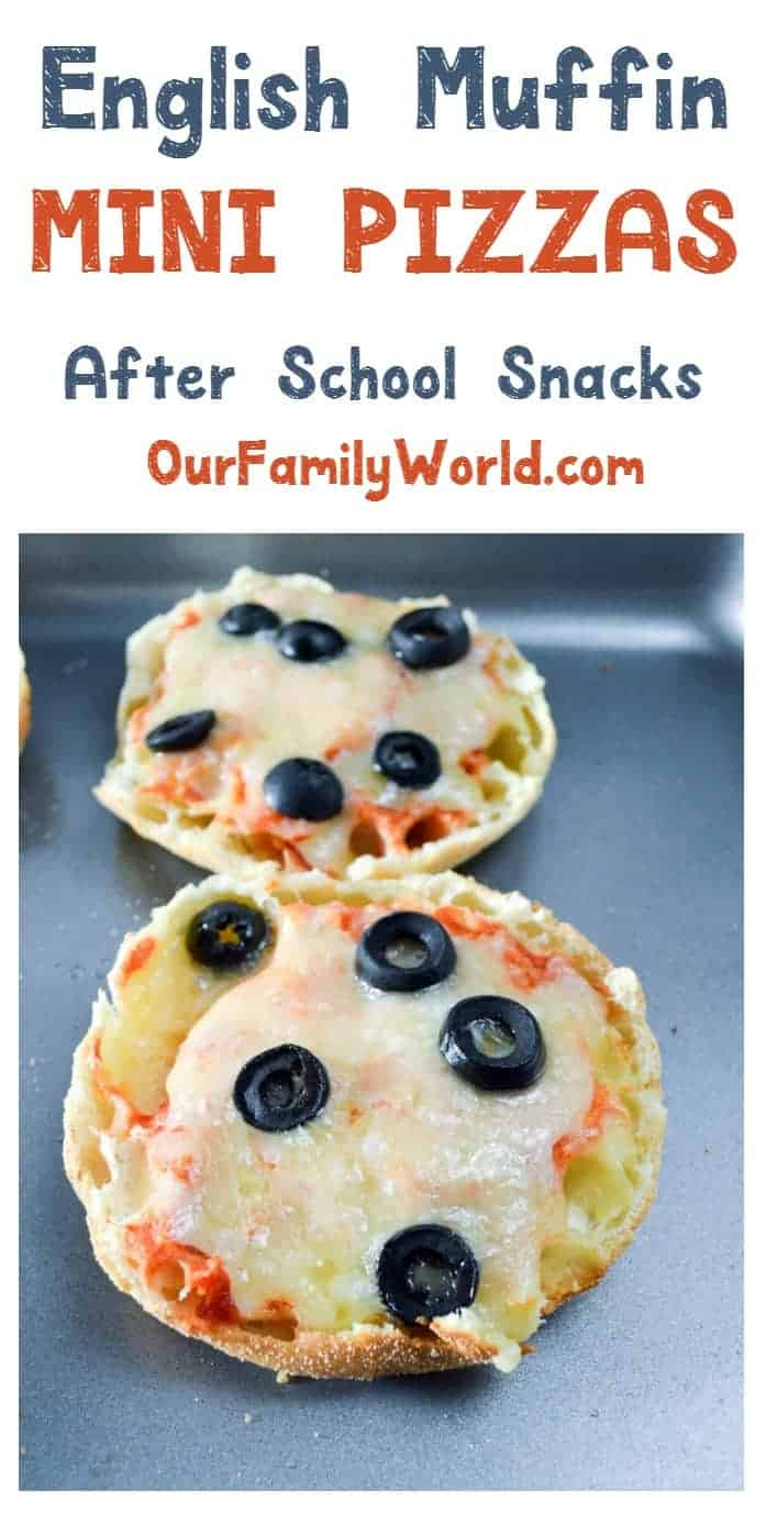 Need a quick and easy after school snack? How about English muffin mini pizzas? They're fast, fun and easy to customize to everyone's tastes.