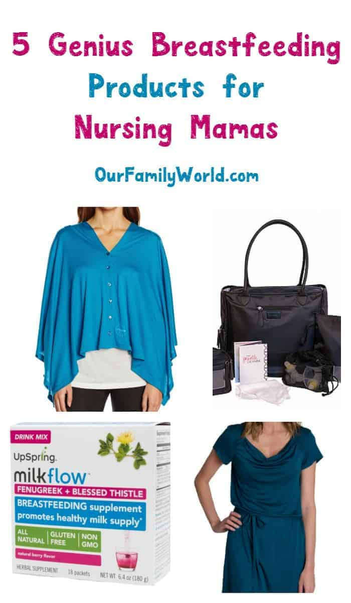 Overcome all the challenges of being a new nursing mom with these 5 genius breastfeeding products! Check them out!