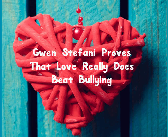 I've always liked Gwen Stefani, but after what she did for a special little boy who was being bullied, my respect for her skyrocketed! What an incredible message.