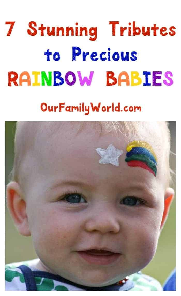 """Have you heard the term """"rainbow babies"""" before? They're the light after a storm, precious in so many ways. Check out these touching photos that honor them!"""