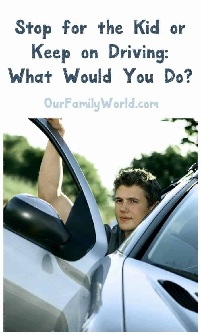 What do you do when you see a teen in distress walking down the street? Do you stop or keep going? Check out our thoughts & share yours!