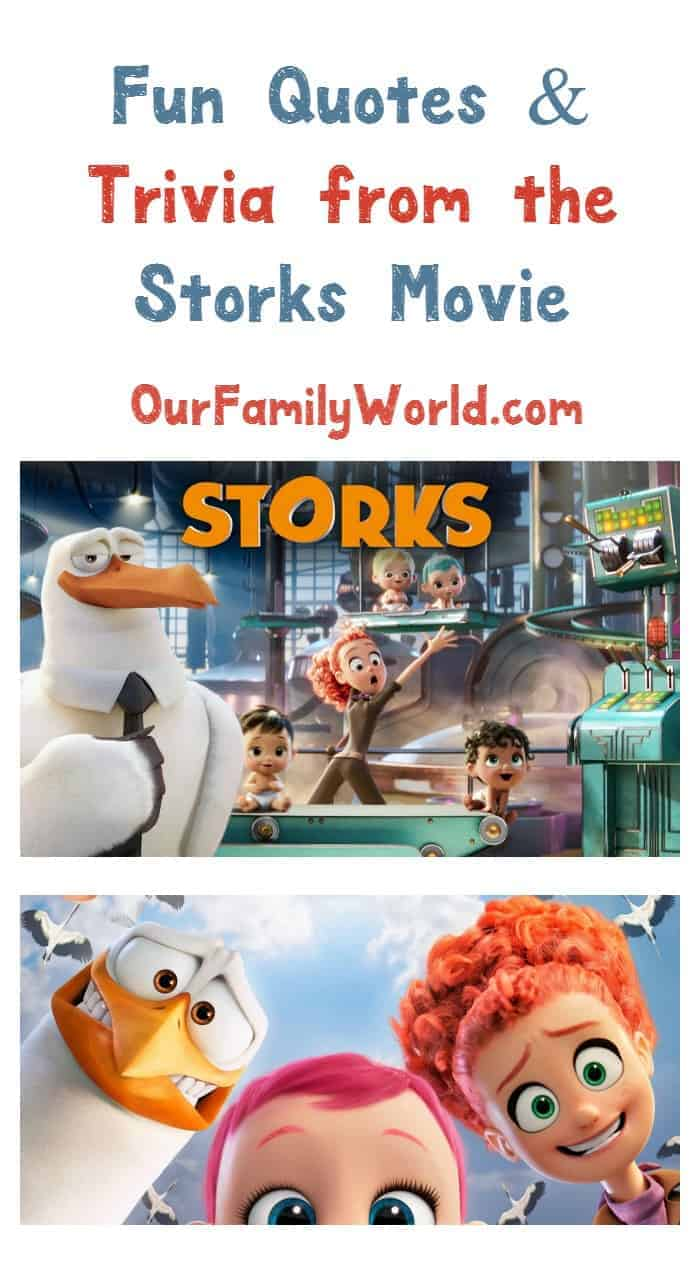 Ready for some exciting Storks movie quotes and trivia? I sure am! Check out fun facts & get a sneak peek at this fabulous family flick!