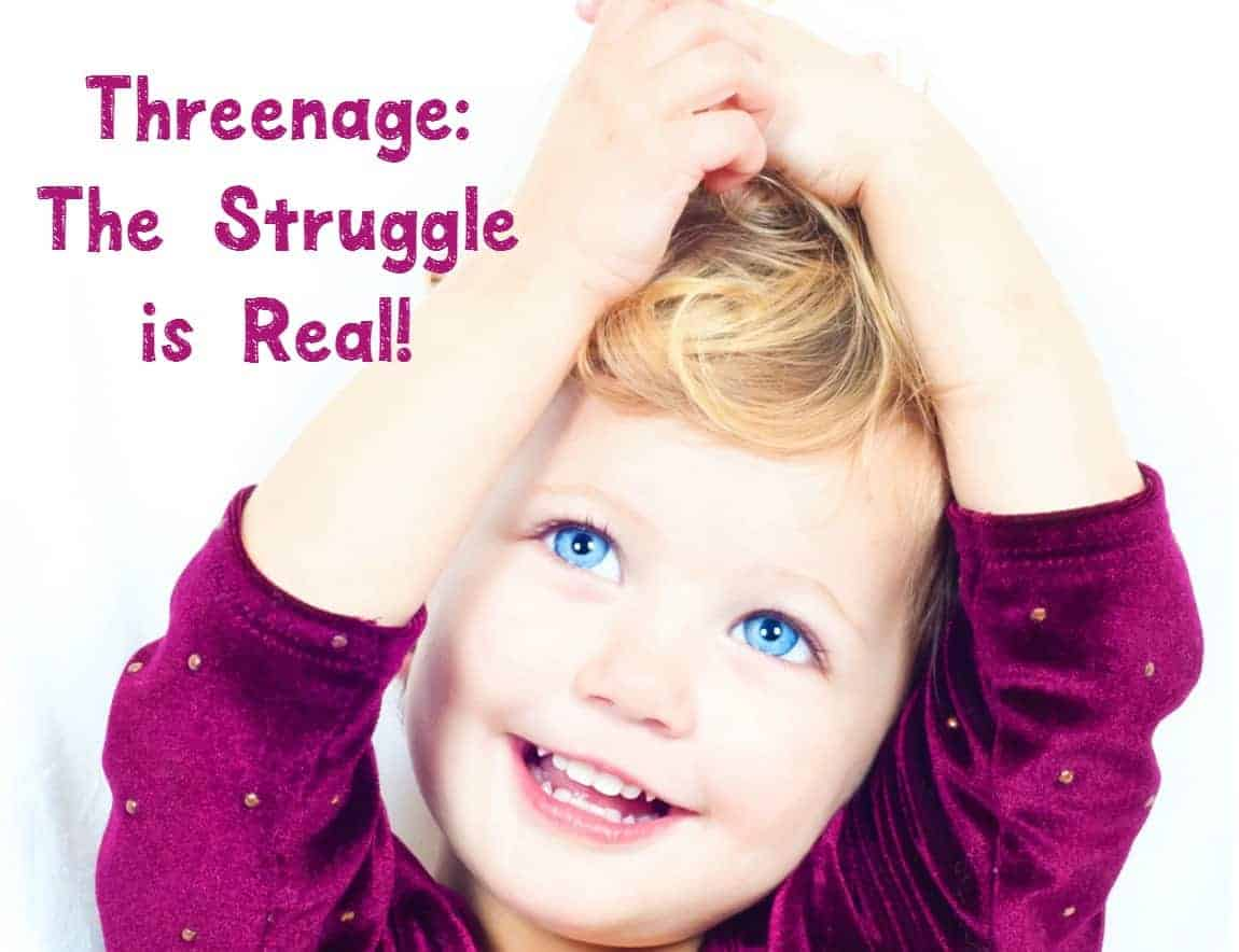 """Ever heard the term """"Threenage?"""" If you have a particularly trying 3-year-old, chances are you have! Check out our parenting tips for this challenging year!"""