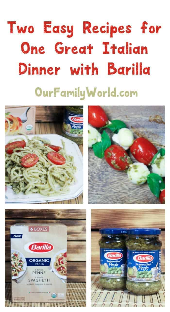 Looking for an easy dinner recipe for pasta night? We have two great Italian recipes for you starring delicious Barilla ingredients! Check them out!