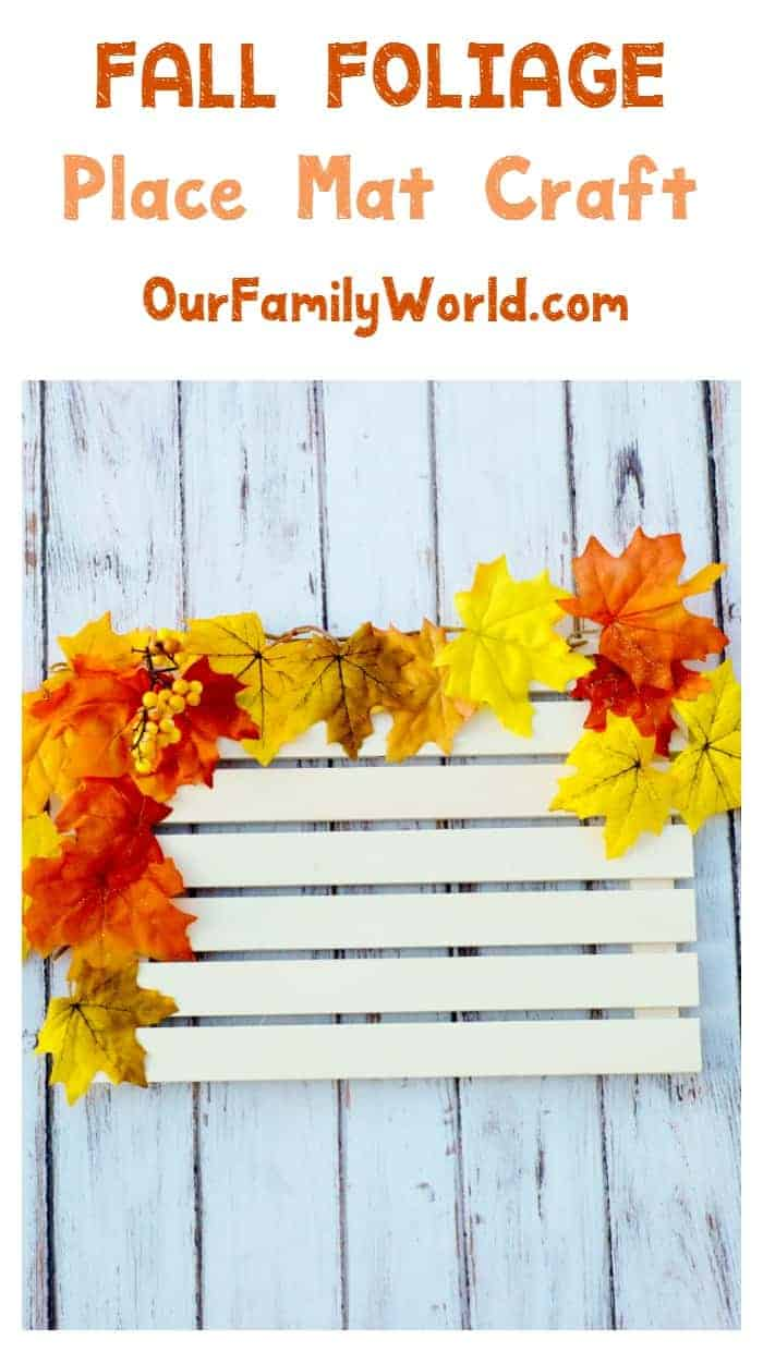 Diy Fall Place Mat Craft For Gorgeous Autumn Tables