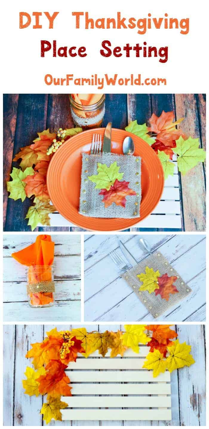 Put together a gorgeous DIY Thanksgiving place setting that will impress your guests! Check out our tutorials to make each part of this easy Fall home décor craft!
