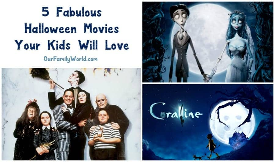 Looking for great not-so-scary Halloween movies for kids? Check out these five flicks that are just spooky enough without terrifying the tots!