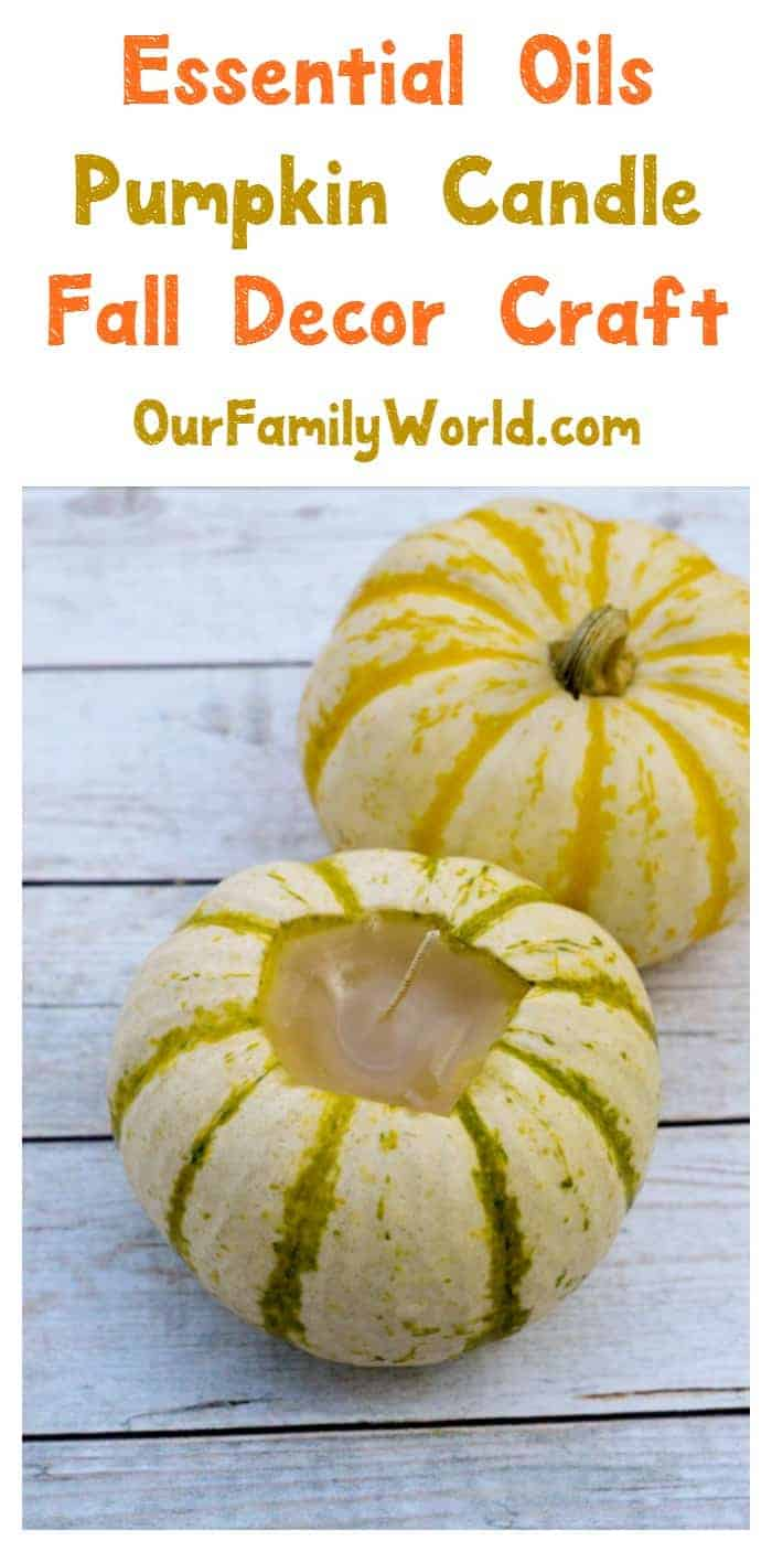 How cute is this pumpkin candle craft? It's one of my favorite fall decoration ideas! Check it out!