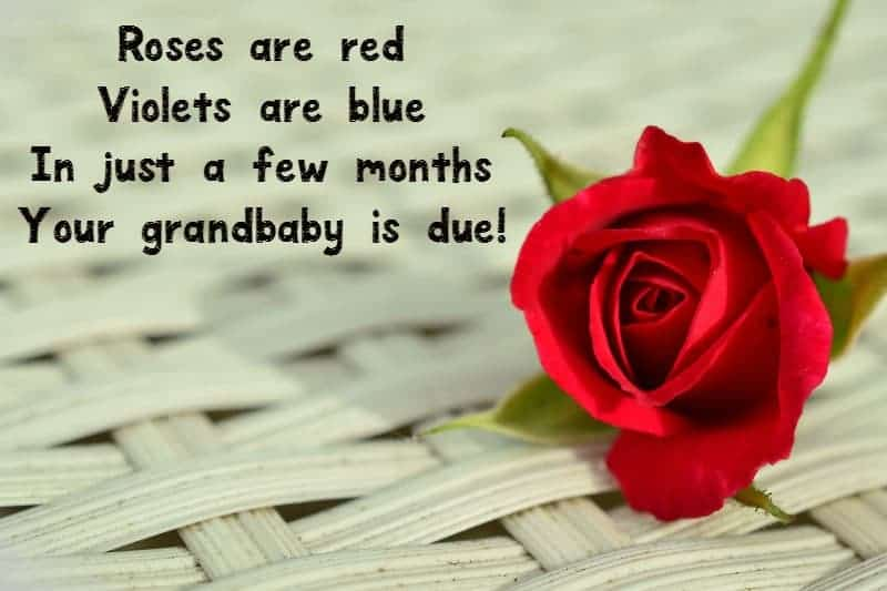 Sweet riddles for your pregnancy announcements for grandparents