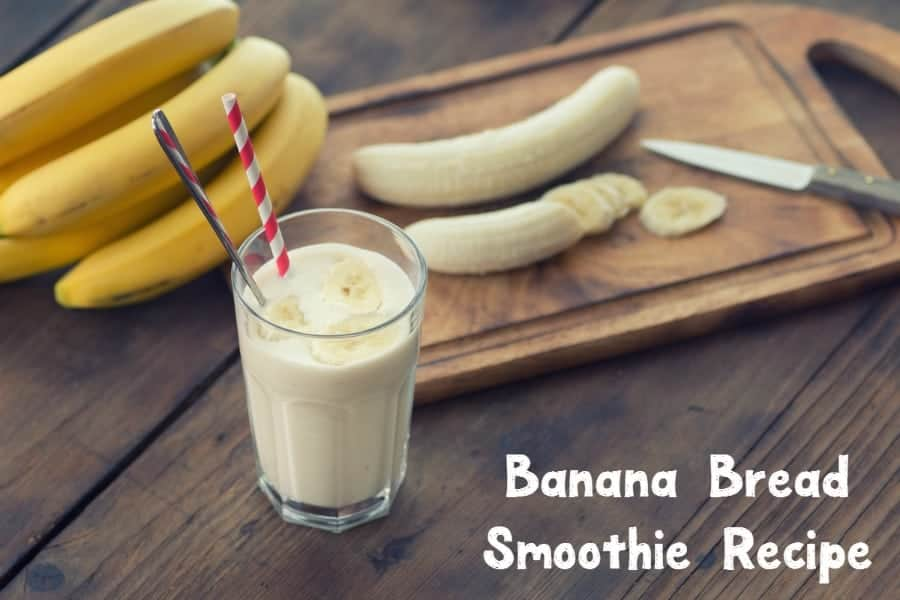 Give your morning a protein-packed punch with this easy homemade banana bread smoothie recipe. Check it out, then print out the recipe card for later!