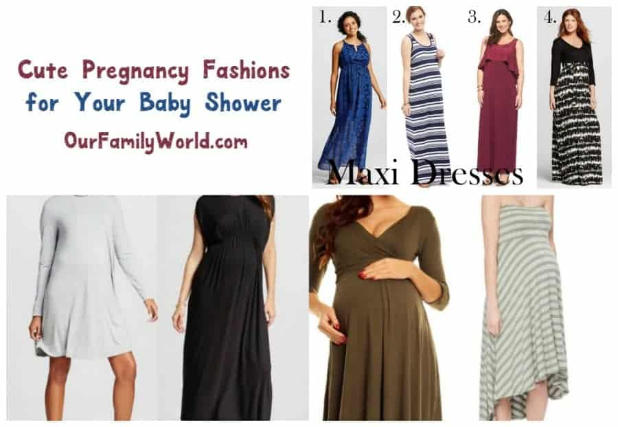 Dress up in cute pregnancy clothes for your baby shower with our picks for the best maternity fashion for parties!