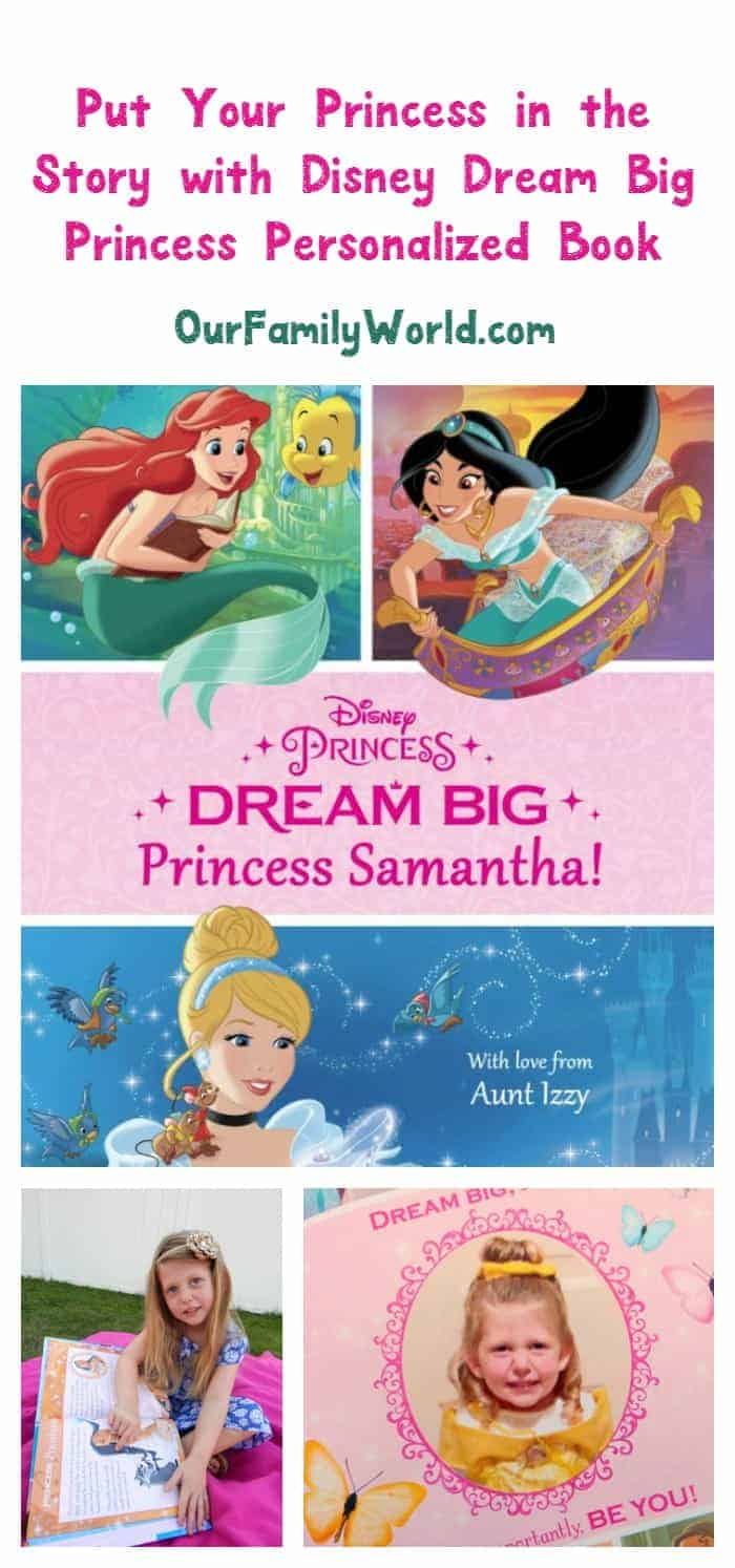 Disney's Dream Big, Princess personalized book for kids from Put Me in the Story is a great way to encourage positivity and a love of reading in your little princess! Check it out!