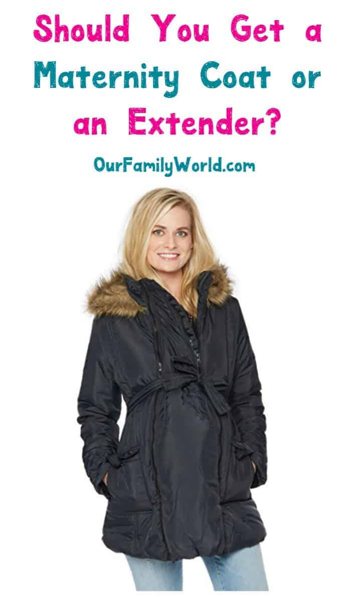 Should you invest in a good maternity winter coat or just get a jacket extender? Check out the pros, cons & our favorite picks for both options!