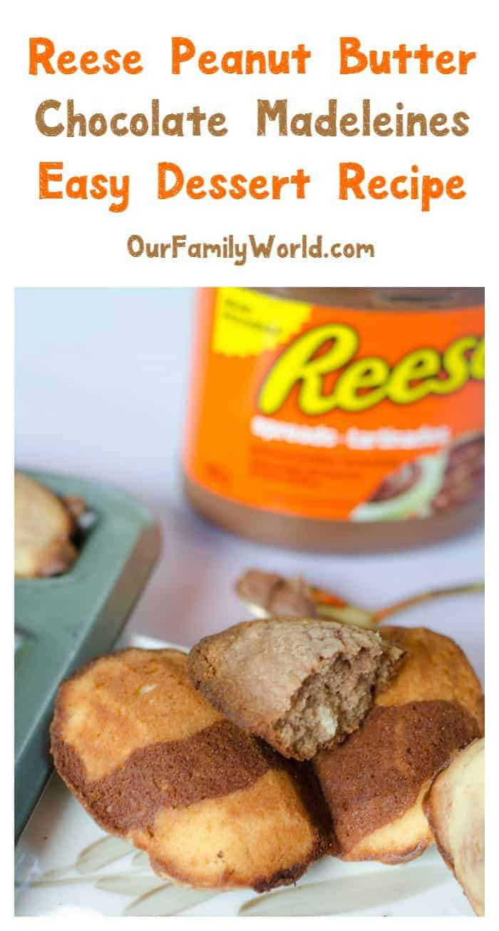 Need an easy dessert recipe? Get ready for melt-in-your-mouth goodness with this delicious Reese Peanut Butter Chocolate Madeleine recipe!