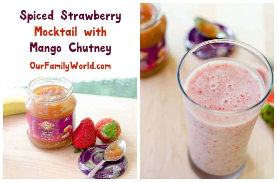 Spice Up Your Strawberry Mocktail with Mango Chutney!