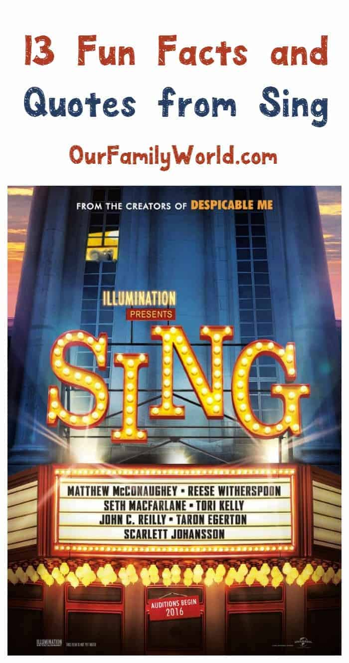 Get ready for the family musical comedy of the year with our favorite Sing movie quotes and trivia! Check it out!