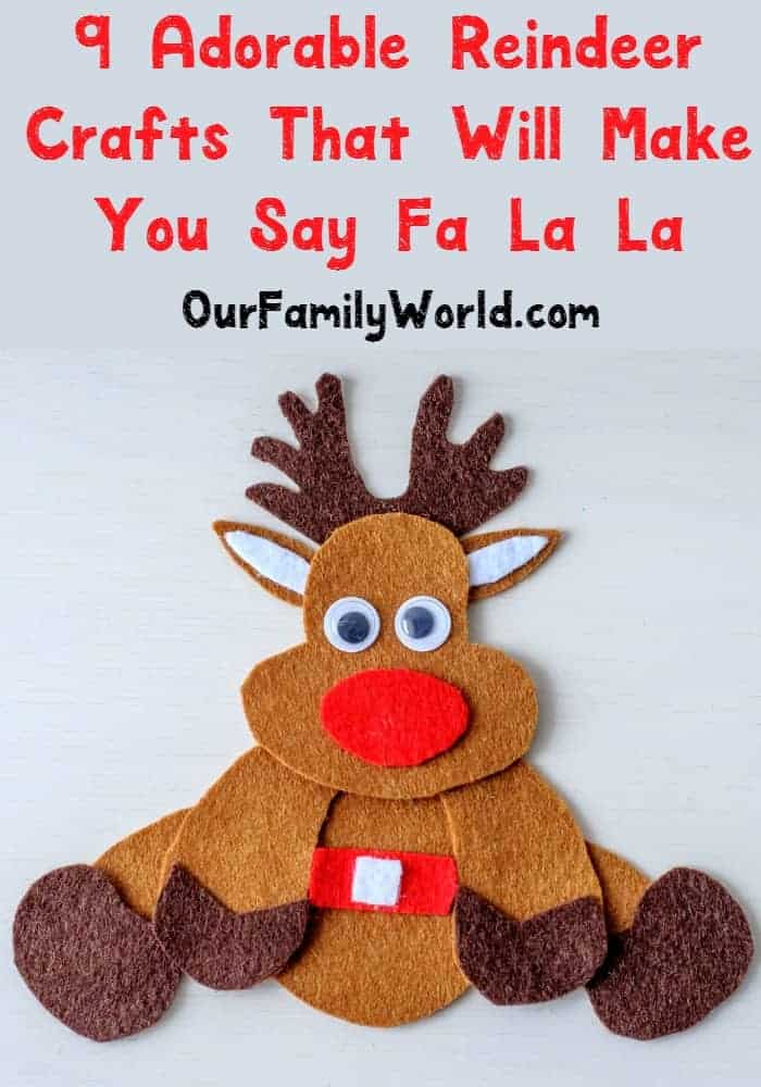 These adorable reindeer crafts will make your heart sing Fa La La! Check out our list for DIY Christmas crafts for the kids and even some home decor ideas too!