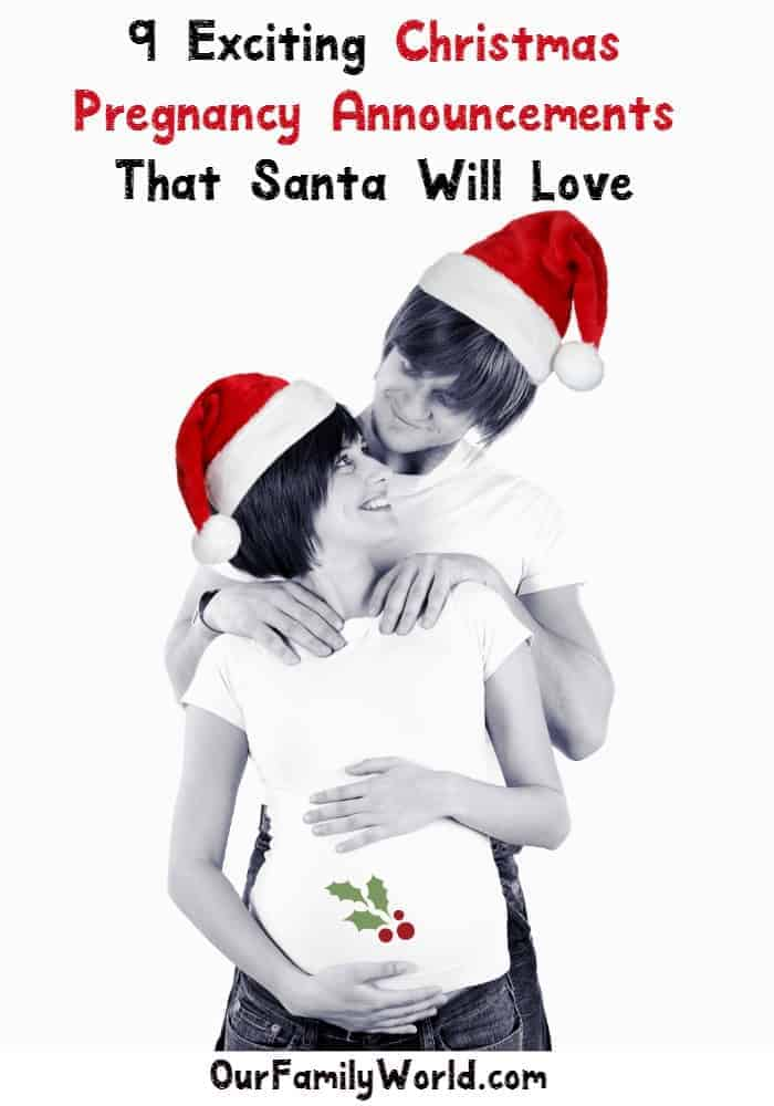 All I want for Christmas is you baby! See nine exciting Christmas pregnancy announcements!