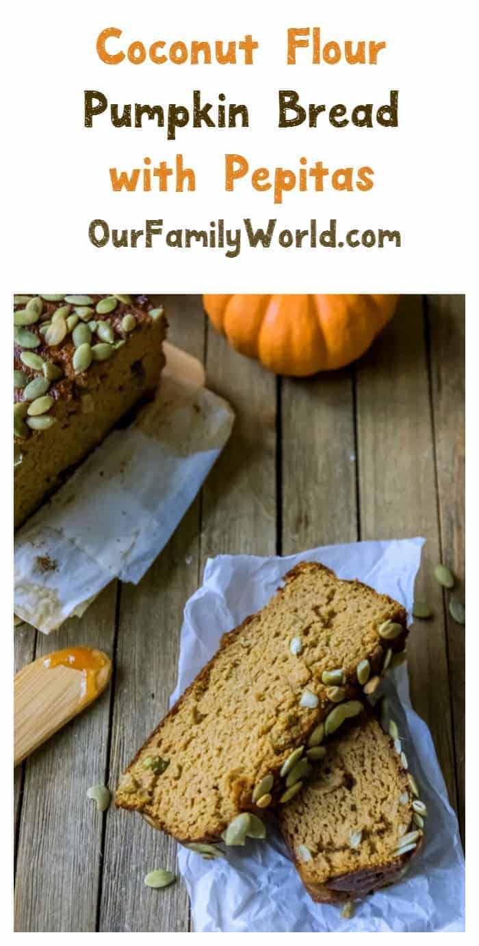 Gluten-Free Coconut Flour Pumpkin Bread with Pepitas Recipe