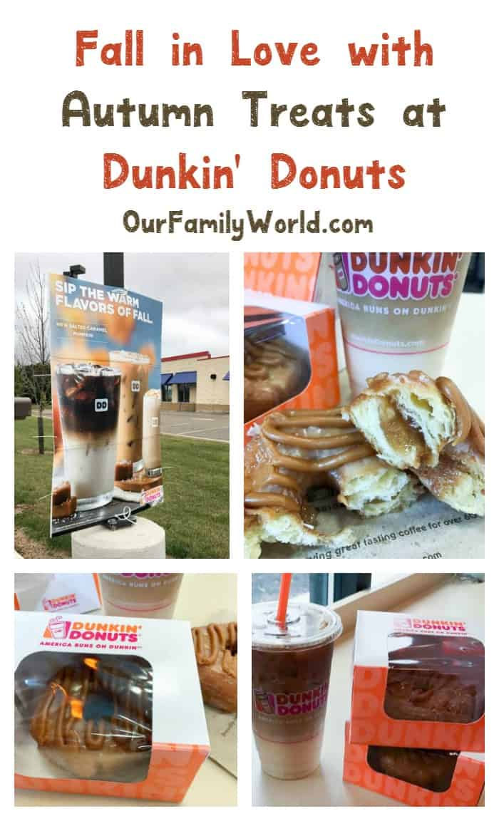 """Have you checked out the new Autumn treats at Dunkin' Donuts? You'll """"fall"""" in love for sure!"""