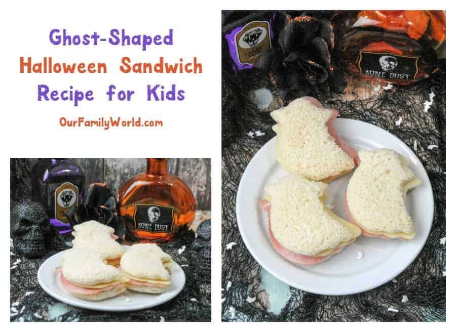 Looking for a fun Halloween sandwich recipe for kids? Check out these adorable & easy ghost-shaped turkey sandwiches! Perfect for spooky lunchboxes!