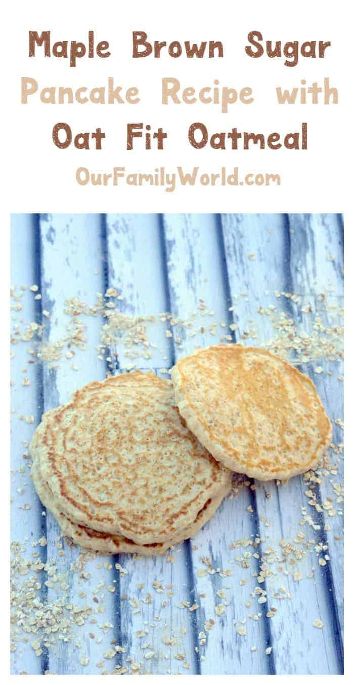 Your healthy breakfast just got easier thanks to Better Oats Oat Fit! Try them in this yummy pancake recipe!