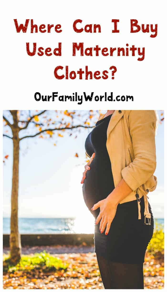 """""""Where can I buy used maternity clothes?"""" If you want to save money during your pregnancy, check out these resources for inexpensive clothing!"""
