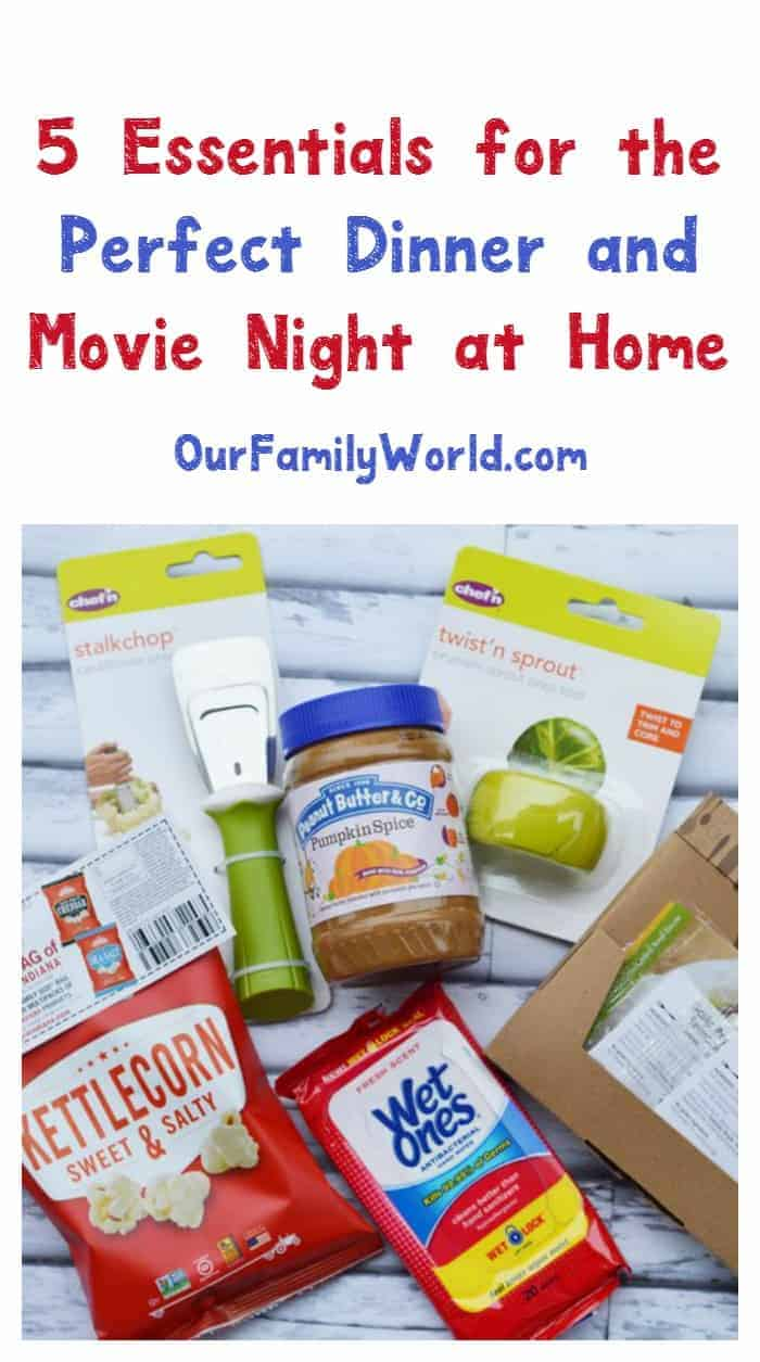 Don't let the cold fall weather keep you from having fun! Check out everything you need for the perfect dinner and movie night at home!