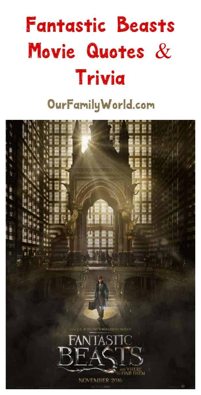 If you're as crazy-excited about the Harry Potter spin-off as I am, you'll love our Fantastic Beasts and Where to Find Them movie quotes and trivia!